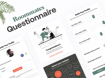 👦 Roommates Questionnaire Form | June Homes hours timer time selector form builder room home steps physics 2d form design ocupation sleep wakeup time weekends journey hobbies noise tidy rate