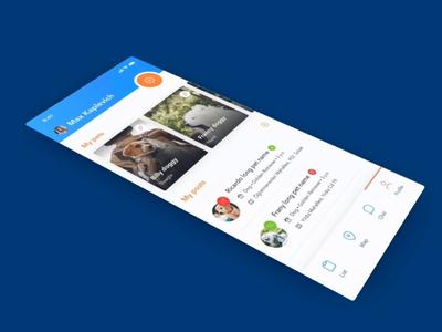 SpotPet App iOS&Android for animals! nurslin effects vector blue design orange pets animal art dogs cats android ios app animals animation