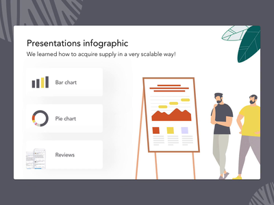 Infographic | 3 Slides with animation effects ui ux informational information architecture set man bar pie information design information infographic reviews facebook tables charts vector animation illustration