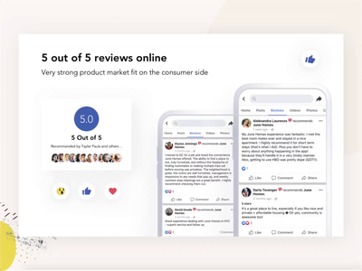 Facebook Review Rating interface whitespace clean minimalismus minimalism blue app design effects animation