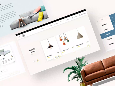 Online E-commerce furniture store in Miami, US branding furniture website furniture design furniture store typography miami us ikea sofa ui animation