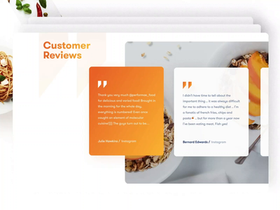 🍉 Food Delivary Service | Website parts delivery app cards 3d aftereffects delicious foodie landing restaurant plate slides delivery food and drink eat kitchen food