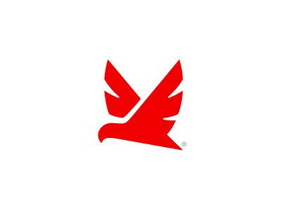 Cofkan logaze icon negative fly brand mark wings bird