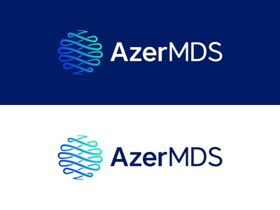 AzerMDS medical hospital azerbaijan logaze behance logofolio logos mark logo