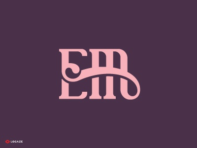 EM logaze em woman baku brow mark beauty logo