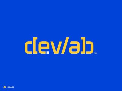 devlab logaze logoaze code logofolio type font typography logos developer lab logo