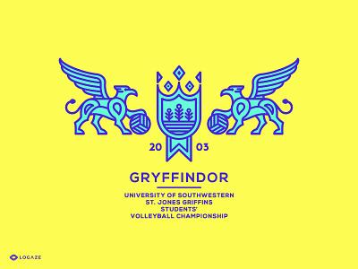 Gryffindor team school ball voleyball fly logo gryffindor