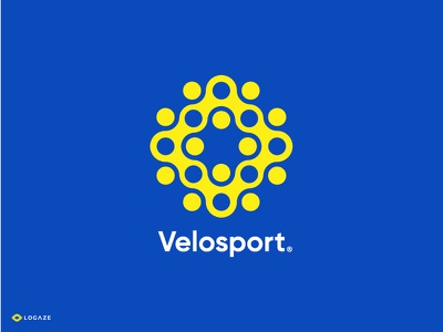 Velosport branding symbol mark bicycle gear sport
