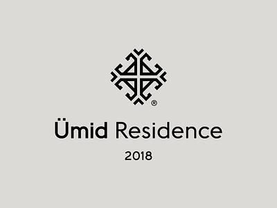 Ümid Residence house home azerbaijan hope building real estate symbol mark logo residence branding