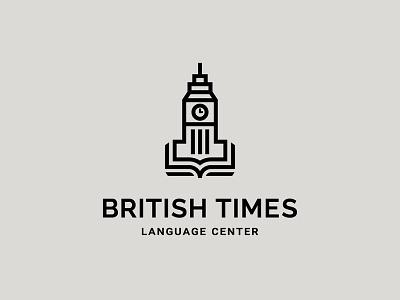 British Times book time center language british symbol bigben mark logo azerbaijan