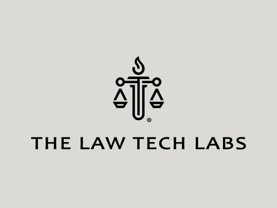 The Law Tech Labs fire tech branding logotype logaze illustration logo mark symbol law lab