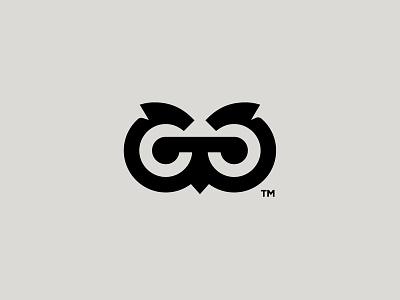 Digger owl it ux ui illustration baku logotype logaze brand symbol mark logo gg