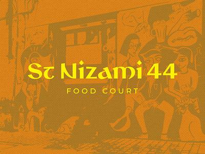 St Nizami 44 food restaurant graphic branding azerbaijan baku street logo