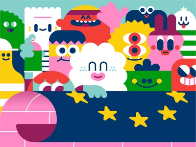 Boo To Borders illustration characters loulou  tummie character design