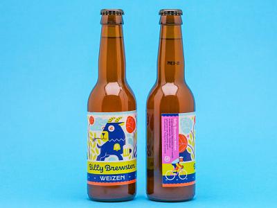 Beer label - Wiezen branding illustration logo design loulou  tummie vector illustration