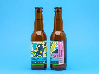 Beer label - Vals Plat vector loulou  tummie illustration branding logo design vector illustration