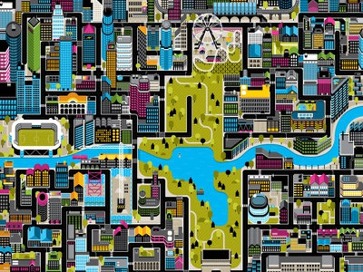 map map vector smart game roads pac man map game illustration game map map