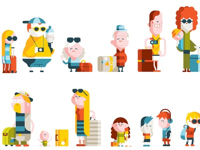 characters airport fun kids vacation characters