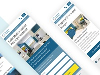 Mobile landing pages for property investing