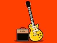 Les Paul Gold Top and Amp
