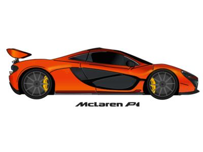 McLaren P1 illustration