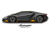 Lamborghini Centenario illustration