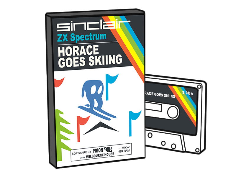 Horace Goes Skiing - ZX Spectrum Game 80s cassette game zx spectrum skiing horace