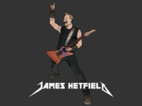 James Hetfield (Metallica) Illustration