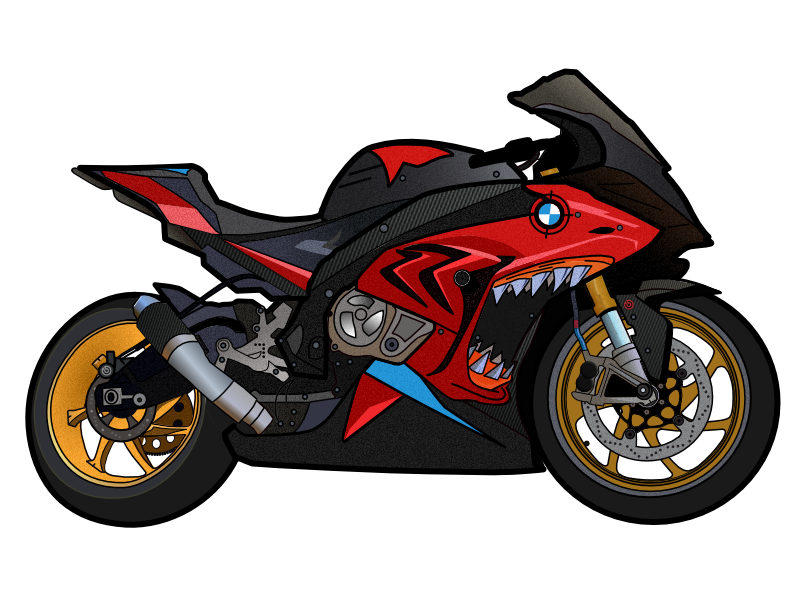 Motorcycle shark