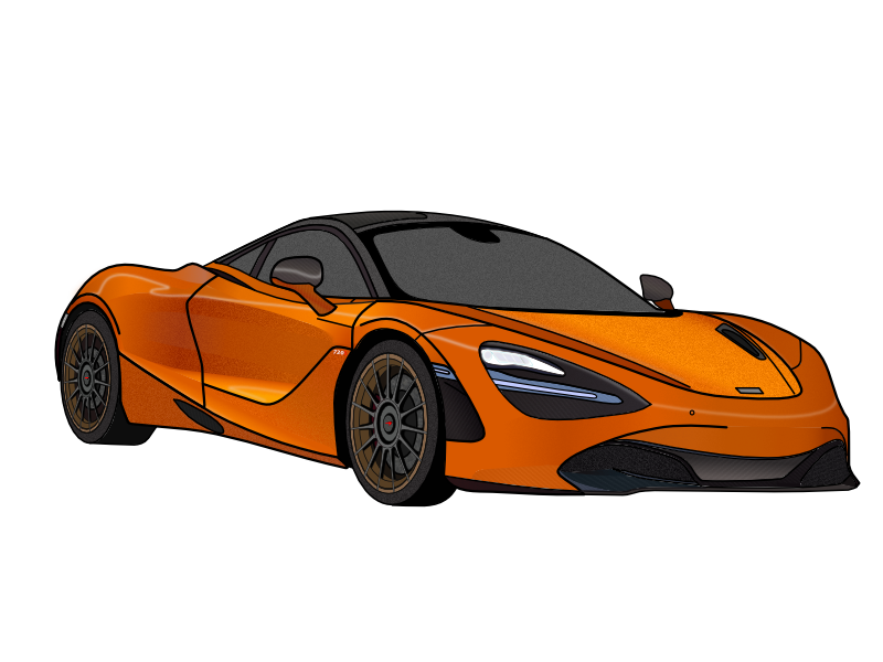 Mclaren 720s Papaya Spark Orange mso illustration 720s mclaren