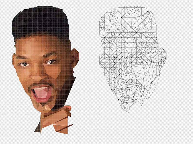"""""""Low poly"""" - Fresh Prince 90s illustration poly low prince fresh"""