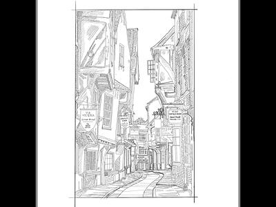 York street illustration yorkshire york