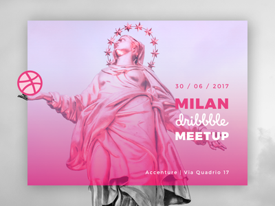 Milan Dribbble Meetup card invitation contest accenture milan meetup dribbble