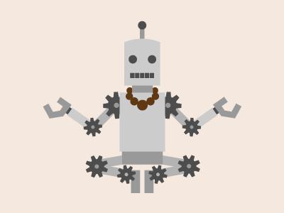 Robot Guru trex design vector illustration