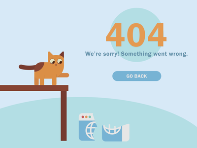 Cat 404 cat web design design vector illustration