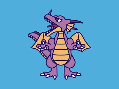 DragonLord rpg dragon quest dragon design vector illustration