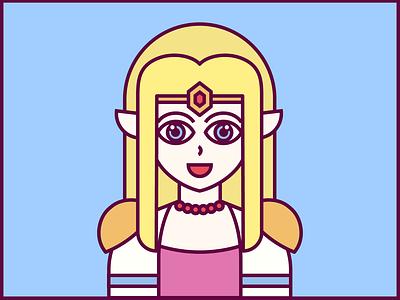 Princess Zelda nintendo princess zelda illustration vector