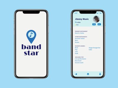 Concept for a band-forming app