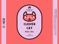 """Clever Cat Pale Ale"" Beer Can Design"