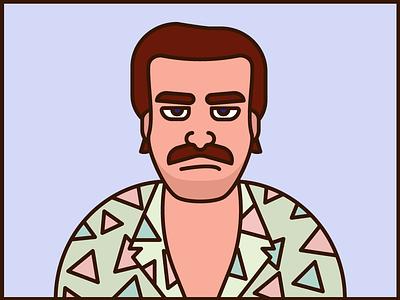 Hawaiian Shirt Hopper stranger things illustration design vector