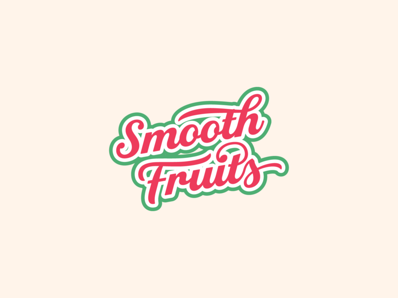 Daily Logo Challenge: Day 47 drinks juice fruits smooth smoothie company typography business vector logo design branding dailylogochallenge