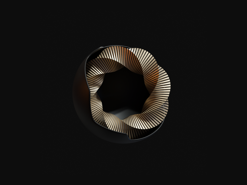 Abstract Art II render minimal shapes geometric gold experimental cycles blender art aesthetic abstract 3d