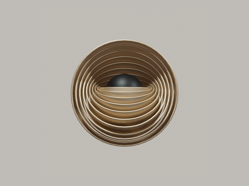 Abstract Art III shapes render minimal gold geometric experimental cycles blender art aesthetic abstract 3d