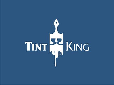 Tint King logo logo interior wise king crown beard art design ink tint paint brush king head