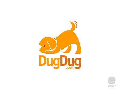 Dugdug Logo 99designs dog lover happy dog pet care pet puppy dog logomark identity branding logo design