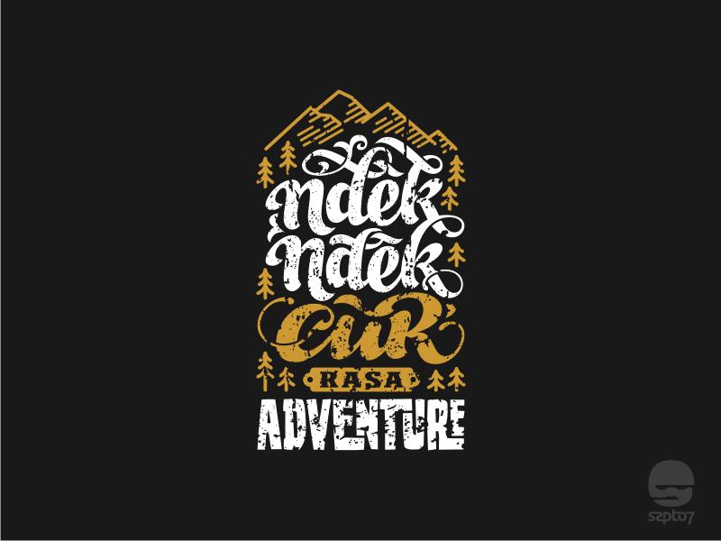 Ndek Ndek Cur rasa Adventure script font travel adventure retro vintage hand lettering design modern calligraphy lettering typography