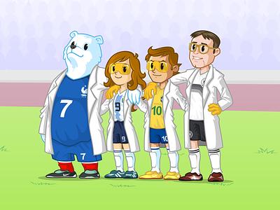 Bioman Soccer Team soccer team scientist science adventure character design vector design mascot illustration branding
