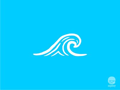 Serengetee Wave sea wave tshirt design travelling line art hand drawing doodle apparel adventure branding design identity illustration