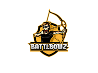 BattleBowz logo character design bow logo mascot game sports logo vector design illustration identity branding logo design