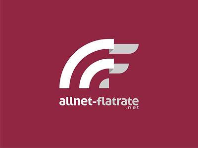 allnet-flatrate.net logo minimalist logo flat design vector internet logotype logomark logo identity branding logo design